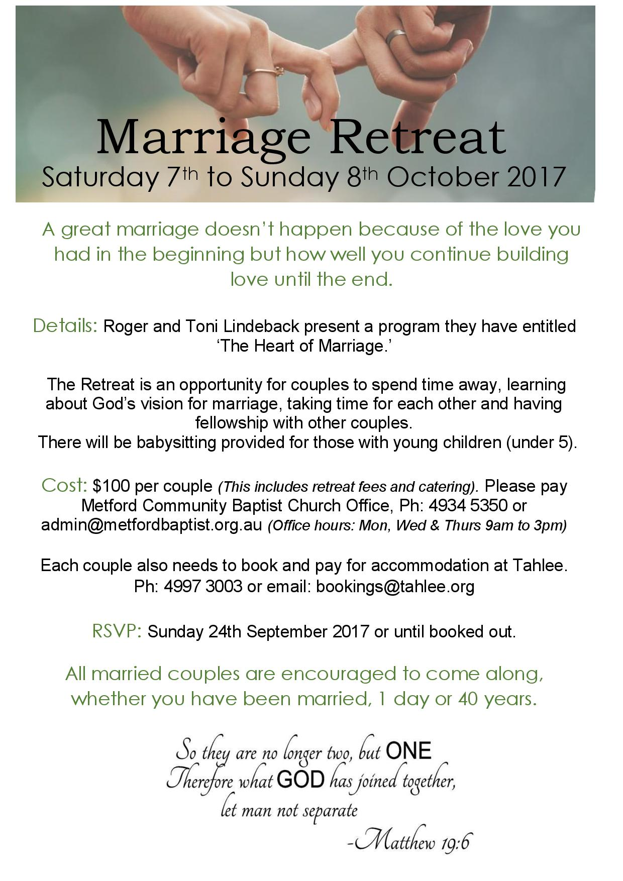 Events - Marriage Retreat